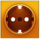 ABB Sky Niessen 2CLA858890A1001 Накладка розетки SCHUKО (оранжевый)
