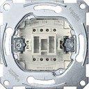 Schneider Electric System M QuickFlex MTN3112-0000 Выключатель одноклавишный двухполюсной (10 А, с возм. подсветки, механизм, скрытая установка)