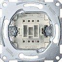 Schneider Electric System M QuickFlex MTN3612-0000 Выключатель одноклавишный двухполюсной (16 А, с возм. подсветки, механизм, скрытая установка)