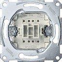 Schneider Electric System M QuickFlex MTN3154-0000 Выключатель однокнопочный с сигнальным контактом (10 А, с возм. подсветки, механизм, скрытая установка)