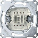 Schneider Electric System M QuickFlex MTN3156-0000 Переключатель однокнопочный с зажимом нейтрали (10 А, с возм. подсветки, механизм, скрытая установка)