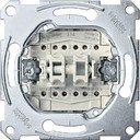 Schneider Electric System M QuickFlex MTN3159-0000 Переключатель двухкнопочный с замыкающим контактом (10 А, механизм, скрытая установка)