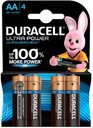 Duracell Ultra Power LR6-4BL Батарейки AA LR6 1.5В (4 шт)