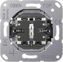 Jung LS1912 K 509 VEU Выключатель двухклавишный однополюсный (10 А, механизм, скрытая установка)