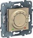 Терморегулятор для теплых полов с выносным датчиком от +5 до +45°С Unica Studio Pure/Unica Studio (10 А, 230 В, под рамку, с/у, бежевый)