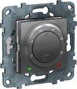 Терморегулятор поворотный +5…+30°С Unica Studio Pure/Unica Studio (8 А, 230 В, под рамку, с/у, алюминий)