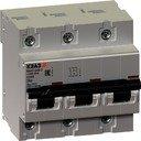 КЭАЗ ВА47-100 233058 Автоматический выключатель трехполюсный 25А (10 кА, D)